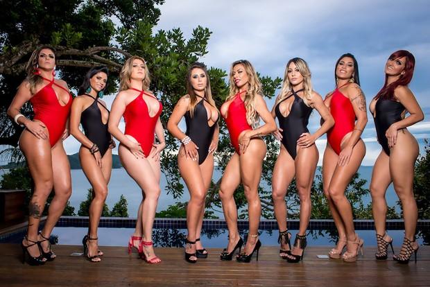 """Participantes do reality """"Casa dasPimentinhas"""" protagonizam ensaio sensual (Foto: Nelson Miranda / M2 Divulgação)"""