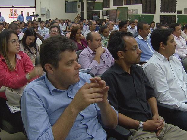 Encontro foi realizado no Hospital Oswaldo Cruz (Foto: Reprodução/TV Globo)