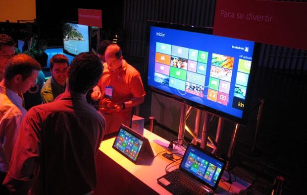 Computadores com Windows 8 podem ser testados em evento em São Paulo (Foto: Gustavo Petró/G1)