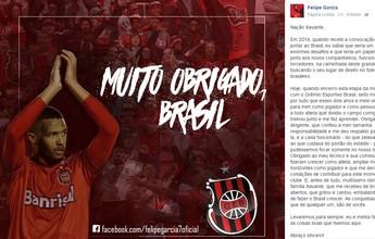 Vice artilheiro da Série B, F. Garcia se despede do Brasil-RS e deixa mistério