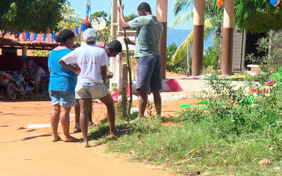 Comunidade quilombola da Rocinha, fica no município de Nossa Senhora do Livramento, na Bahia (Foto: Reprodução/ TV Globo)