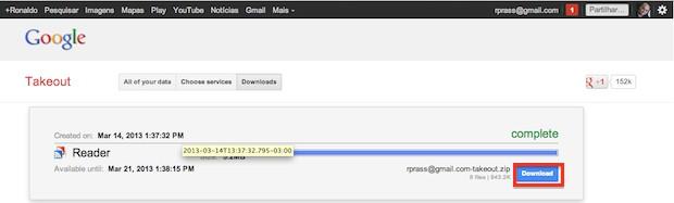 Fazendo o download do arquivo (Foto: Reprodução)