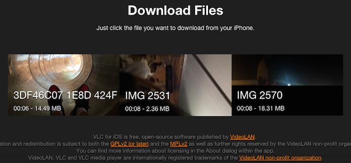 Clique sobre os arquivos para baixá-los para o computador (Foto: Reprodução/Helito Bijora)