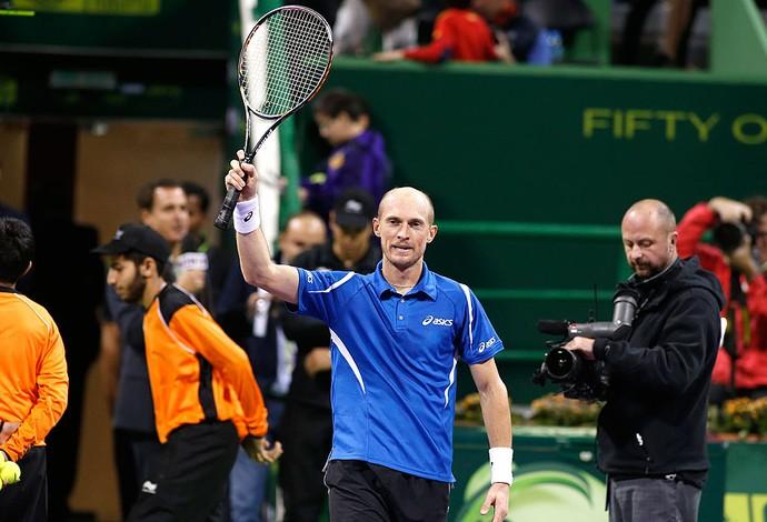Nikolay Davydenko tênis comemoração Doha (Foto: Reuters)