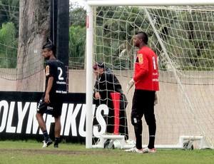 felipe leo moura flamengo treino (Foto: Richard Souza / Globoesporte.com)