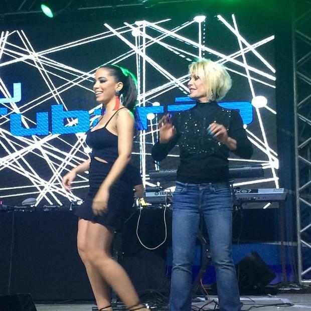 Ana Maria Braga dança com Anitta em festa de Preta Gil no Rio (Foto: Instagram/ Reprodução)