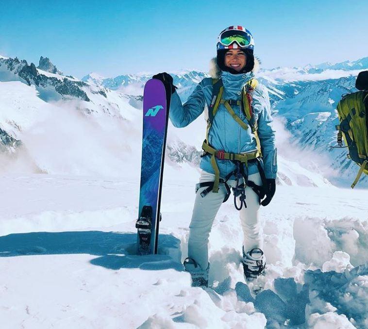 """O Valentine's Day de Fiorella Mattheis é com emoção: """"Heli-esqui a 4 mil metros de altitude"""" (Foto: Reprodução/Instagram)"""