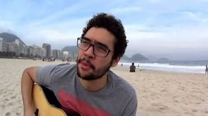 Gui Lopes passando o som que vai tomar a Inglaterra no final de julho (Foto: Reprodução TV Globo)