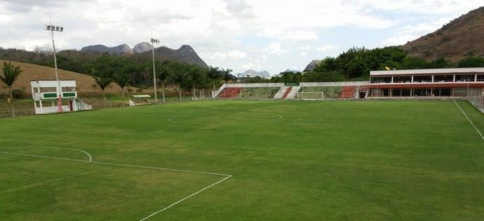 Estádio José Olímpio da Rocha, em Águia Branca (Foto: Richard Pinheiro)