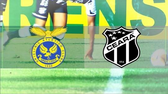 Assista à chamada para a transmissão de Uniclinic x Ceará pelo Campeonato Cearense