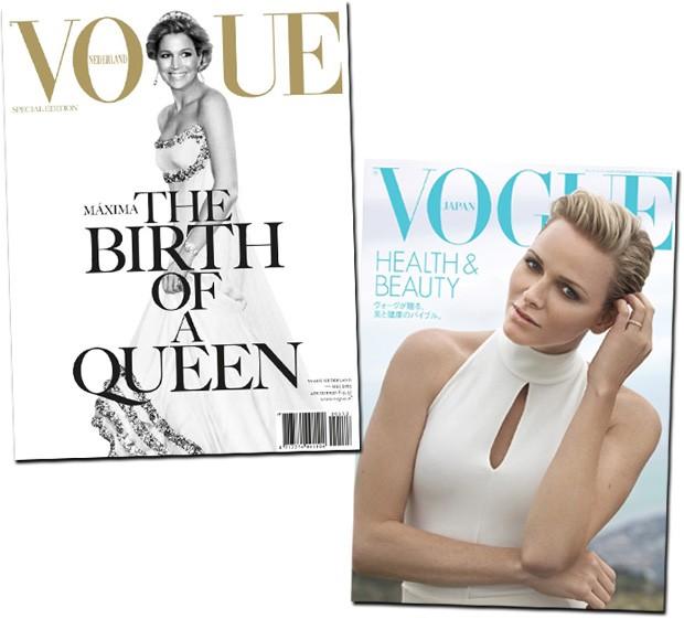 (Foto: Divulgação/Vogue Holanda e Vogue Japão)