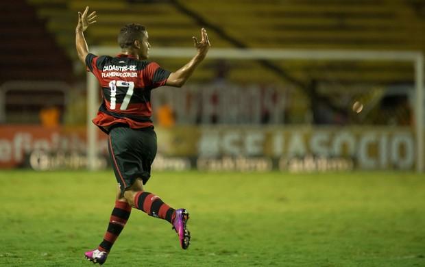 Rpdolfo gol Flamengo x Volta Redonda (Foto: Celso Pulpo / Ag. Estado)
