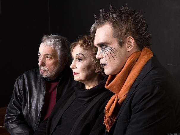Eva Wilma em espetáculo sobre a profissão artística (Foto: João Caldas)