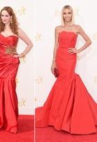 Vermelho, branco e azul: veja as cores que foram hit nos modelitos das famosas no prêmio Emmy 2014