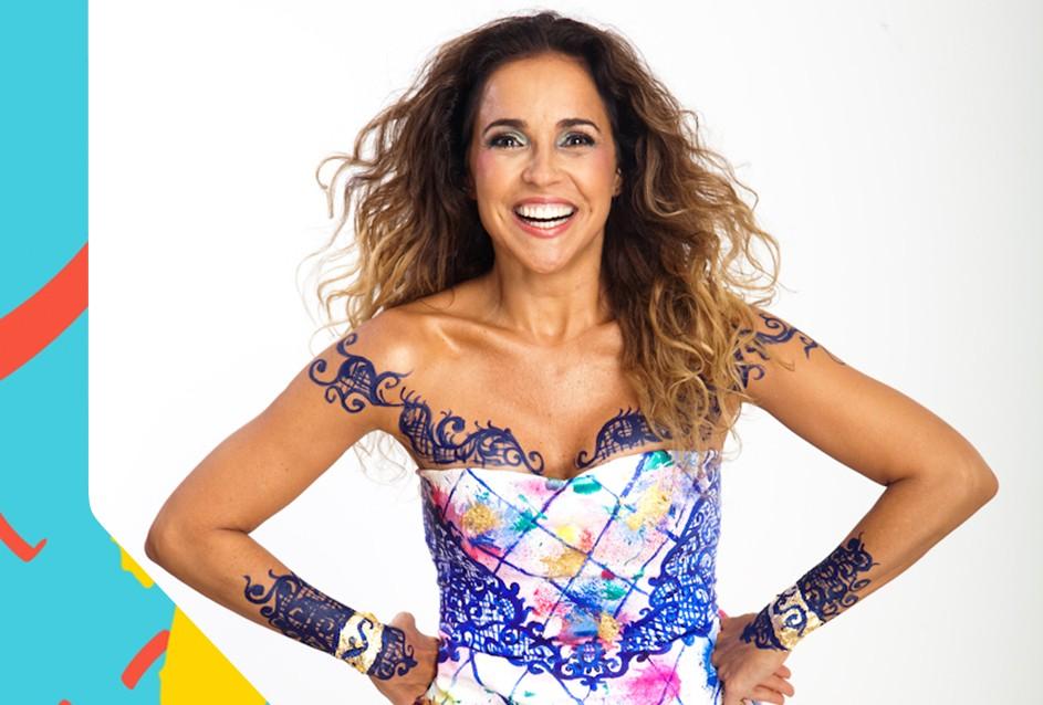 Daniela Mercury comanda o TVZ Ao Vivo no dia 296 (Foto: Divulgao/Multishow)
