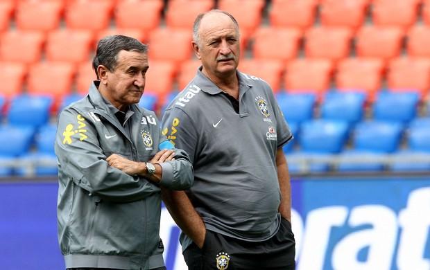 luiz felipe scolari felipão carlos alberto parreira brasil treino (Foto: Bruno Domingos / Mowa Press)