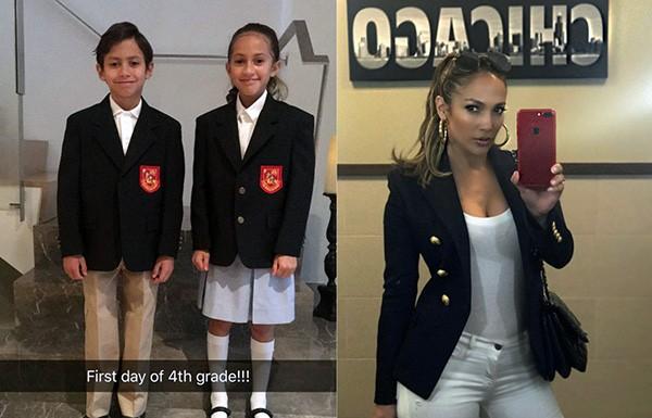 Jennifer Lopez e os filhos, Max e Emme (Foto: Instagram)