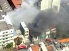 Incêndio atinge grande galpão no Belém, na Zona Leste de SP