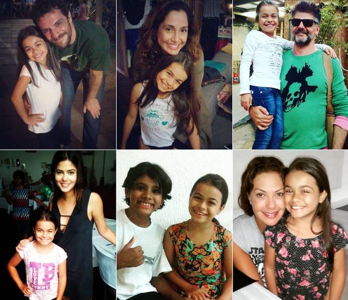 Isabella Aguiar posa com o elenco de 'Velho Chico' (Foto: Arquivo Pessoal)