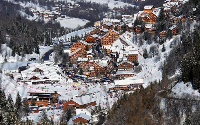estação esqui meribel local acidente Schumacher - resort (Foto: AFP)