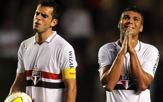 Com 14 pontos, mesma pontuação do Corinthians, o São Paulo é o líder do campeonato por saldo de gols  (Foto: Gaspar Nóbrega / VIPCOMM / GloboEsporte.com)