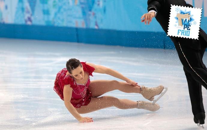 Nicole Della Monica  selo pé frio sochi olimpiadas de inverno (Foto: AP)