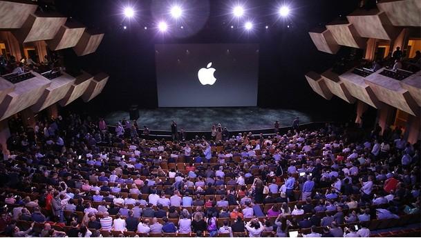 Plateia no evento da Apple nesta terça-feira (Foto: Divulgação)