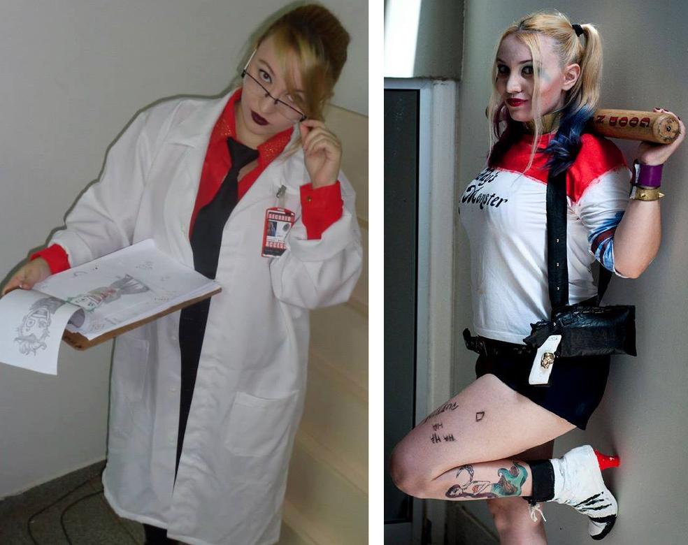 Bruna representa Harley Quinn (Foto: Witch Artist/Arquivo pessoal)