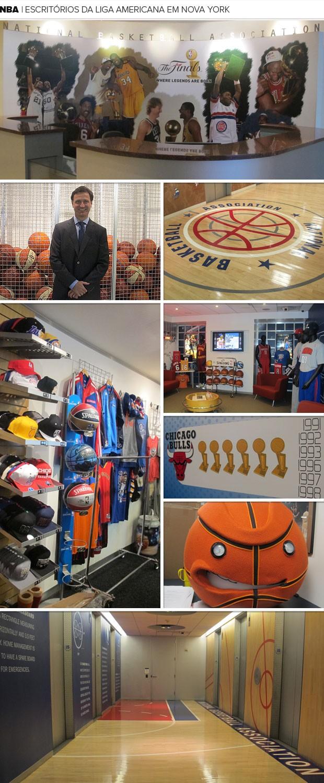 Mosaico escritório NBA (Foto: Gabriel Fricke)