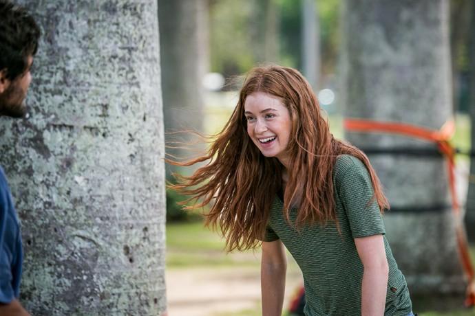 Eliza fica tão linda quando relaxa e sorri (Foto: Isabella Pinheiro / Gshow)