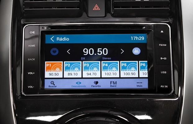 Central multimídia Nissan (Foto: Autoesporte)