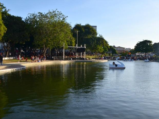 Praça Floriano Peixoto foi reinaugurada em Macapá (Foto: Abinoan Santiago/G1)