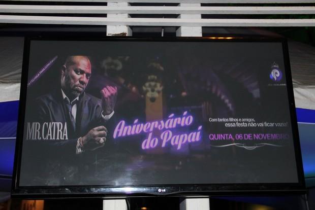 Mr Catra comemora 45 anos com festa em boate no Rio (Foto: Marcello Sá Barreto/Ag News)