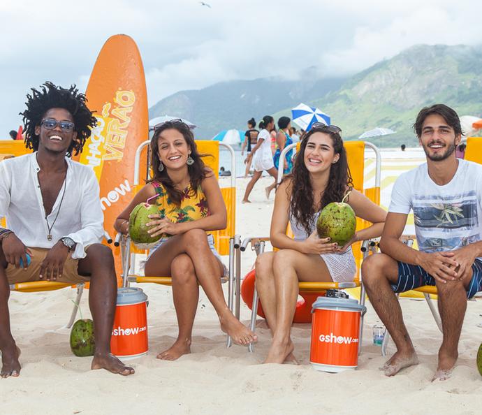Maicon Rodrigues, Lara Coutinho, Lívian Aragão e Brenno Leone abrem o jogo no especial (Foto: Artur Meninea/Gshow)