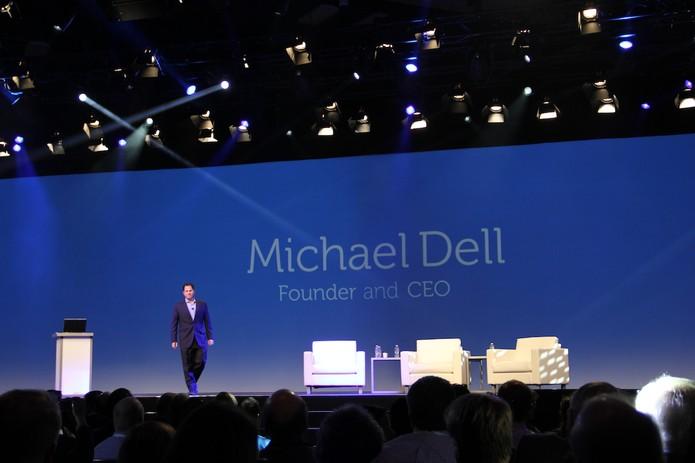 Michael Dell, CEO da companhia na apresentação da Dell World 2013 (Foto: Fabrício Vitorino/TechTudo)