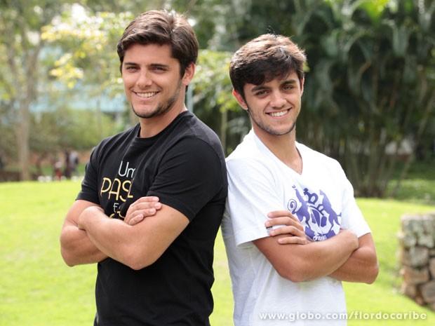 Feilpe recebeu o apoio de Gissoni para sua estreia na TV (Foto: Flor do Caribe / TV Globo)