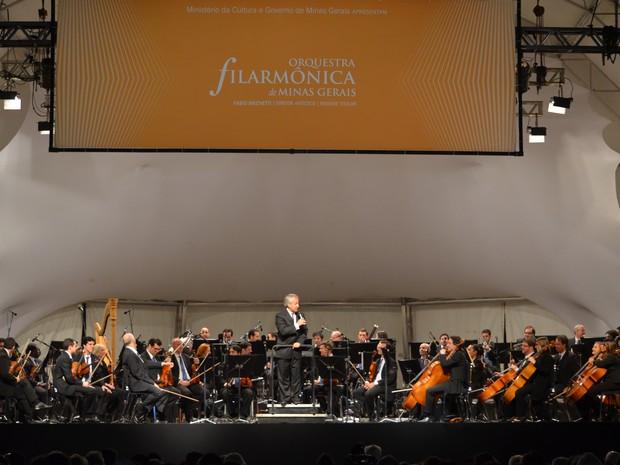 Orquestra Filarmônica de Minas Gerais em Boa Esperança, MG (Foto: Samantha Silva / G1)