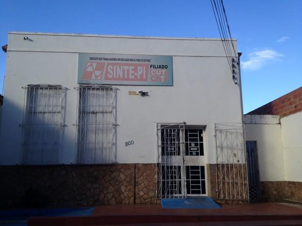 Sindicato dos trabalhadores em Educação Básica Pública do Piauí (Foto: Ellyo Teixeira/G1)
