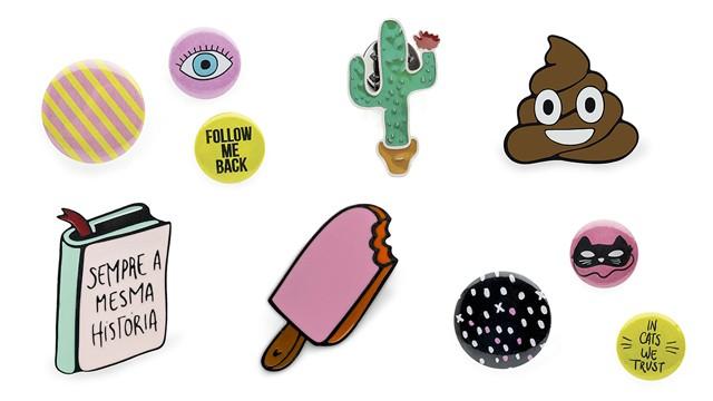 Pins são uma opção de customização mais versáteis. (Foto: Divulgação / Imaginarium)