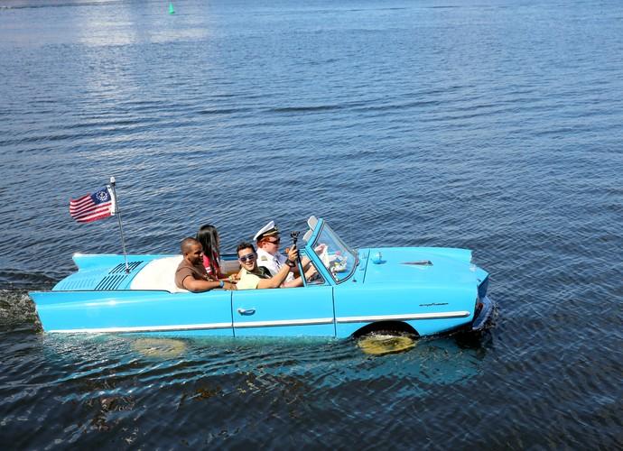 Rodas na água? Isso mesmo! Velocidade em terra e tranquilidade na água (Foto: Leonardo Viso/ Gshow)