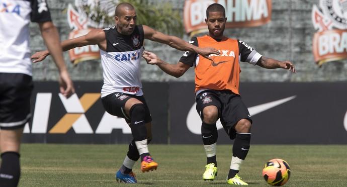 Emerson Sheik e Guilherme Andrade Corinthians (Foto: Daniel Augusto Jr/Agência Corinthians)