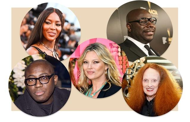 Edward Enninful, Naomi Campbell, Kate Moss, Steve Mcqueen e Grace Coddington (Foto: Getty Images)