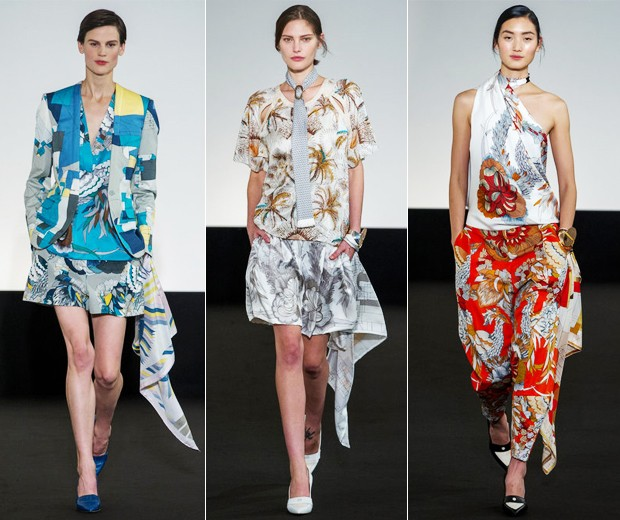 Os lenços do desfile de verão 2013 da Hermès (Foto: Márcio Madeira)