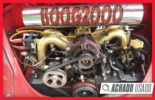 Motor 2.2 boxer de quatro cilindros veio de um Subaru Legacy 1994 (Foto: Reprodução)