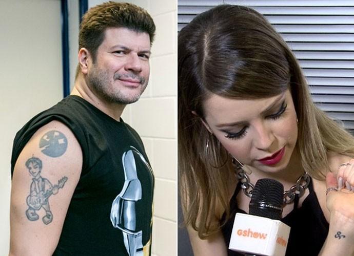 Sandy e Paulo Ricardo mostram suas tatuagens (Foto: Isabella Pinheiro/Gshow)