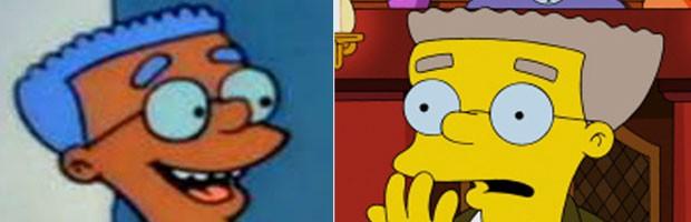 O personagem Smithers era negro em sua primeira aparição em 'Os Simpsons' e depois passou a ser amarelo (Foto: Divulgação/Fox)