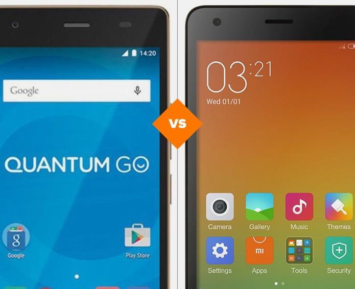 Quantum Go ou Redmi 2 Pro: qual é o melhor celular barato? (Foto: Arte/TechTudo)