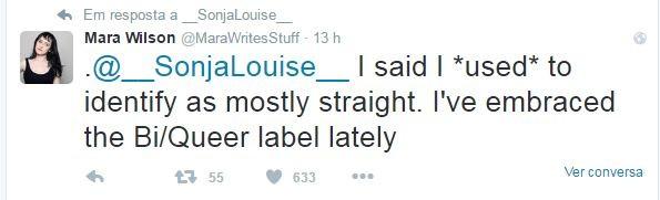Mara Wilson fala sobre sexualidade no Twitter (Foto: Reprodução / Twitter)