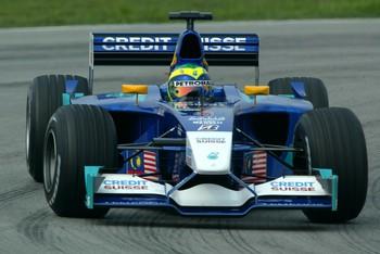Após abandonar na estreia, Massa entrou na zona de pontuação na segunda corrida, na Malásia, em 2002 (Foto: Getty Images)