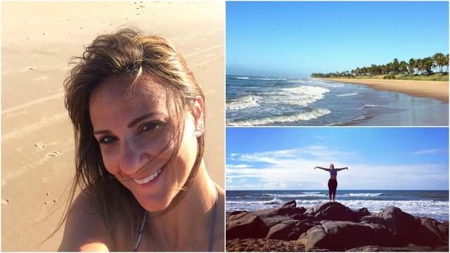 Adriana Cutino passa férias na Costa do Sauípe, BA (Foto: Arquivo Pessoal)